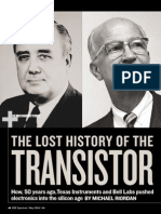 Lost History of the Transistor