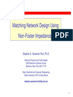 Matching Network Design Non Foster Impedances