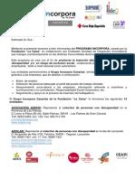 Carta Presentación Grupo Incorpora 2014-2015