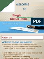 Single status India