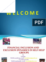 Financial Inclusion and Exclusion Dynamics in SHG - I B Raju
