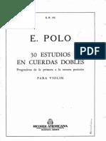 30 Estudios en Cuerdas Dobles violín E. Polo