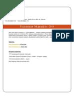 Senior Researcher Recruitment 20052014