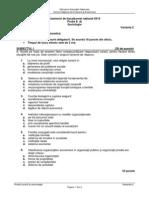 Sociologie 2014 Varianta sesiunea speciala