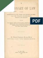 blacks law dictionary 1st edition