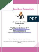 30 Fashion Essentials