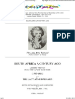 Lady Anne Barnard - Letters Written From the Cape of Good Hope (1791-1801)
