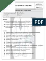 Exemple de Definition de Fonction Du Responsable Laboratoire