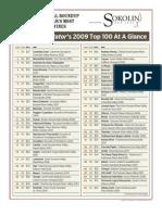 Wine Spectator Top 100 List 2009