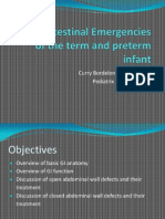 Gastrointestinal Emergencies of the Term and Preterm Infant