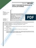 NBR - 09062 - 2001 - Projeto e Execução de Estruturas de Concreto Pré-Moldado