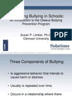 Addressing Bullying in Schools: