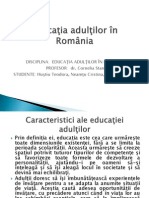 Educaţia Adulţilor in Romania