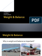 Weight & Balance-COG SHIFT