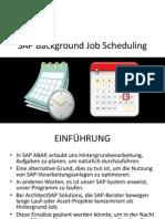 SAP Background Job Scheduling