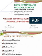 Occupational Health and Safety at Anglogold Ashanti