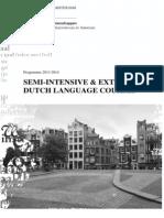 Flyer Semi Intensive Dutch Language Course 2013 2014
