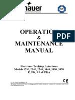 Tuttnauer 1730-3870 - Service Manual