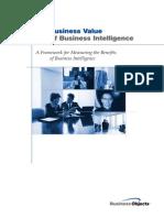 Business Value of BI