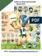 Ver Los Partidos en Línea Del Mundial Brasil 2014