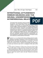 Intentional Attunement Mirror Neurons
