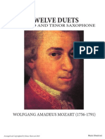 12 Duets for Alto and Tenor Saxophone - Mozart