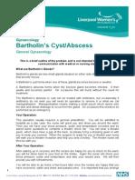Bartholins Cyst