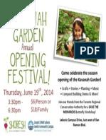 Kavanah Garden Opening Festival
