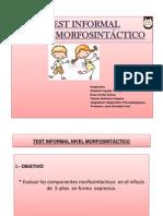 Test Informal Morfosintáctico