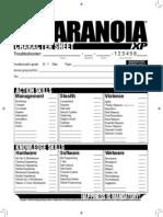 Paranoia XP - Character Sheet