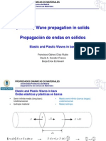 Elastic Waves and Plastic Waves