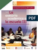 La Asesoria Académica Al Escuela III