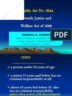 Juvenile Justice and Welfare Act