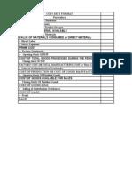 Cost Sheet Format