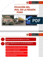 Masificación de Gas Natural en La Región Puno