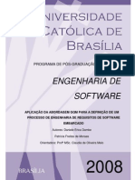 Aplicação Da Abordagem Gqm Para a Definição de Um Processo de Engenharia de Requisitos de Software Embarcado