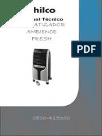 Philco - Climatizador Fresh f 127v- Manual Técnico