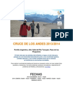 Cruce de Los Andes Paso Piuquenes 2013-2014