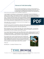 The Besom in York Internship 2014-15