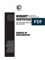 FY 2015 Reclamation Budget Justifications