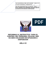 Asl-i-12 Instructivo Para El Personal Que Es Colocado en Situacion a Disposicion