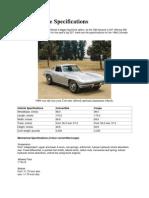 1966 Corvette Specifications