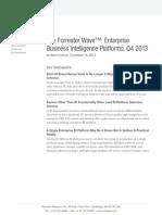 The Forrester Wave Enterprise Business Intelligence Platforms q4 2013