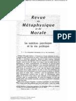 Ruyer, R_La Nutrition Psychique Et La Vie Politique