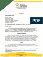June 18, 2014 SEC FOIA Appeal Re WH Equities