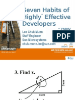 Seven habits of highly effective developers