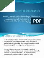 Investigación de Operaciones 1