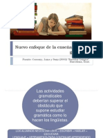 Nuevo Enfoque de La Enseñanza de La Gramática