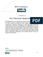 Dry Fog Dust Suppression