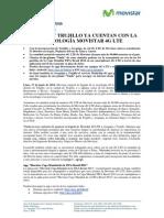 NP_AREQUIPA Y TRUJILLO YA CUENTAN CON LA TECNOLOGÍA MOVISTAR 4G LTE